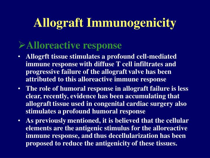 Allograft Immunogenicity