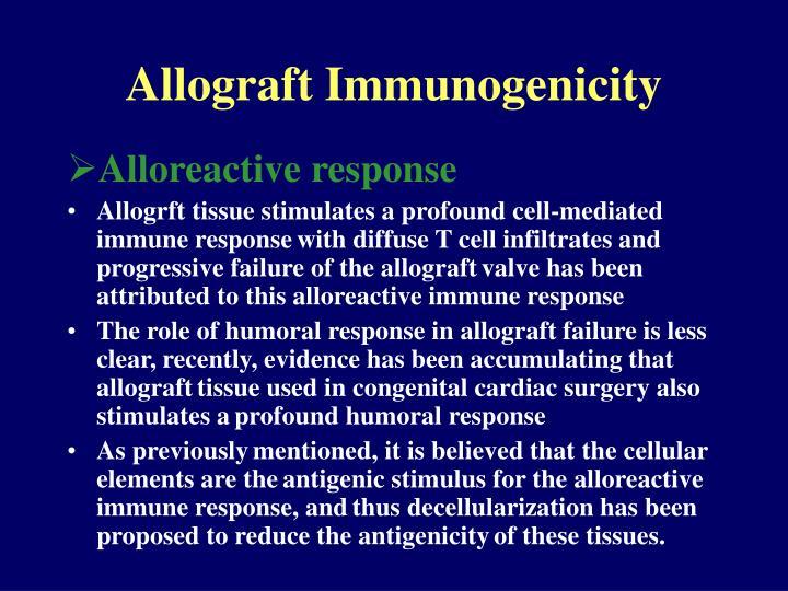 Allograft Immunogenicity