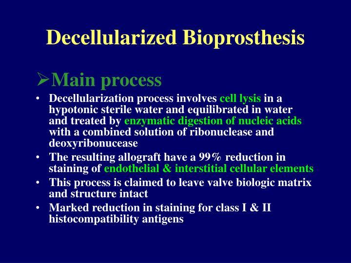 Decellularized Bioprosthesis