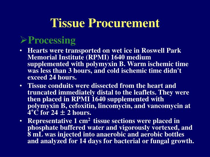 Tissue Procurement