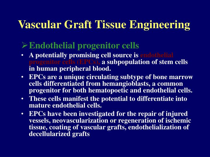 Vascular Graft Tissue Engineering