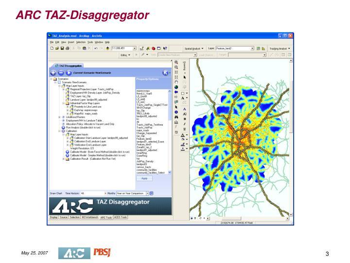 ARC TAZ-Disaggregator