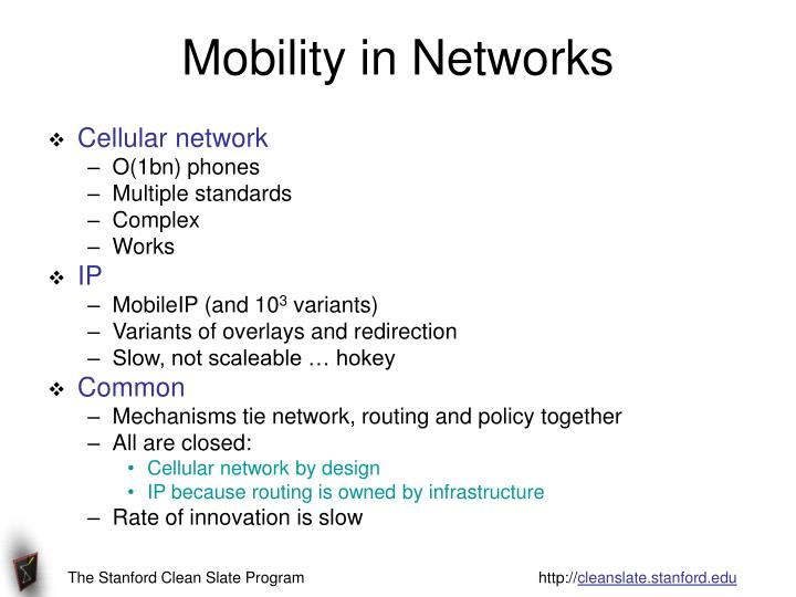 Mobility in Networks