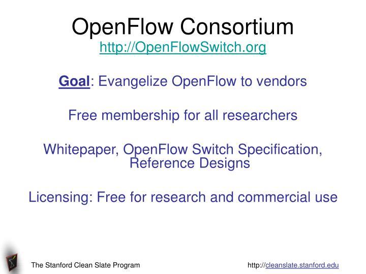 OpenFlow Consortium
