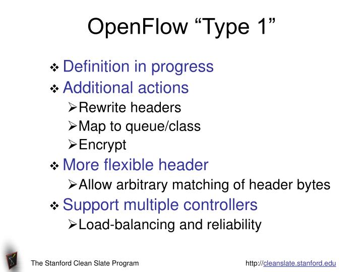 "OpenFlow ""Type 1"""