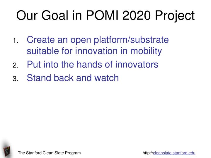 Our Goal in POMI 2020 Project