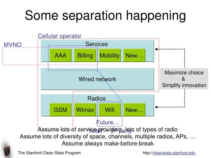 Cellular operator