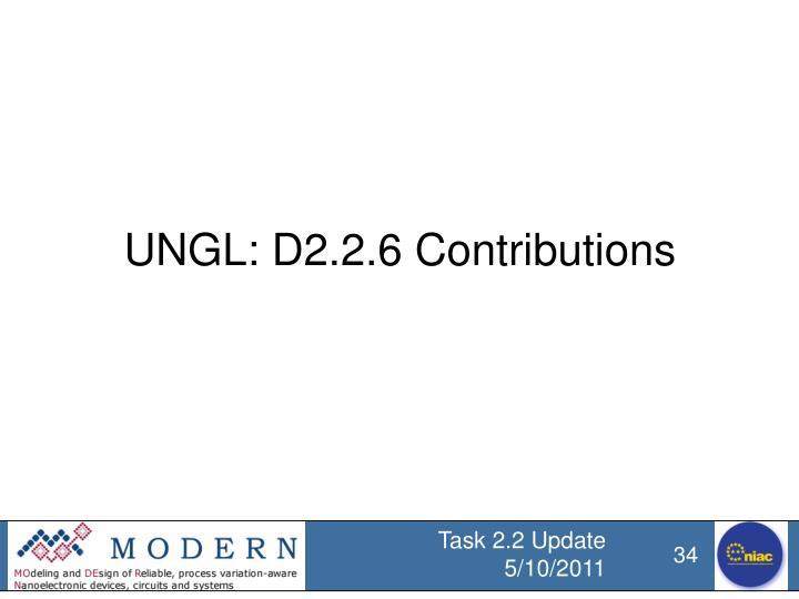 UNGL: D2.2.6 Contributions