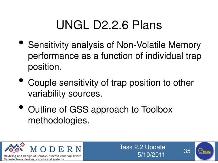 UNGL D2.2.6 Plans