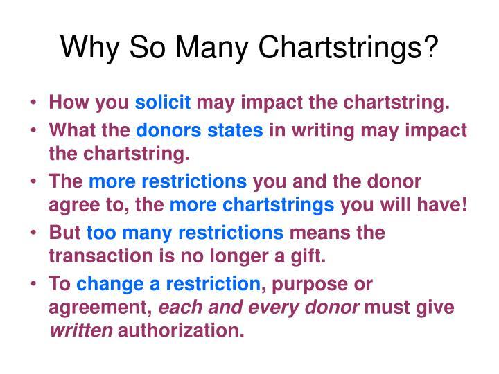 Why So Many Chartstrings?