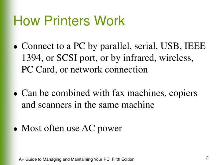 How Printers Work