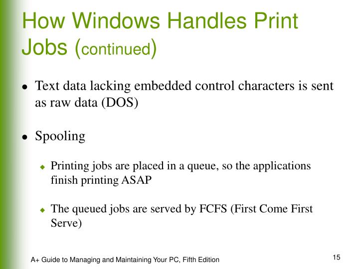 How Windows Handles Print Jobs (