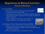 regulations related activities chemical petitions