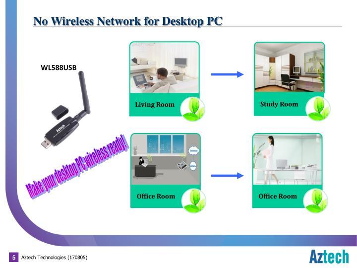 No Wireless Network for Desktop PC