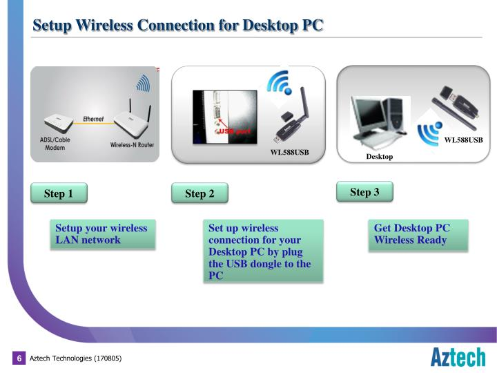 Setup Wireless Connection for Desktop PC