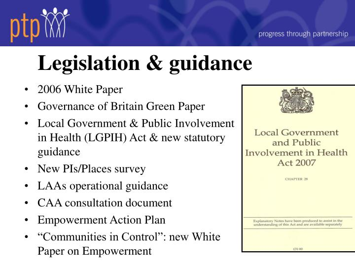 Legislation & guidance