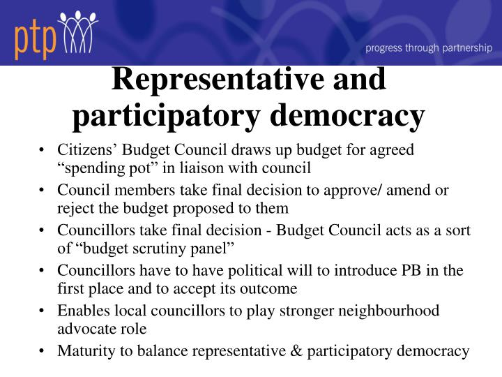 Representative and participatory democracy