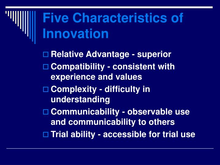 Five Characteristics of Innovation