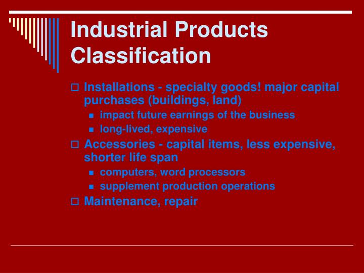 Industrial Products Classification