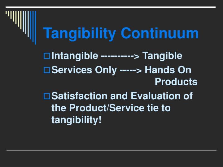 Tangibility Continuum