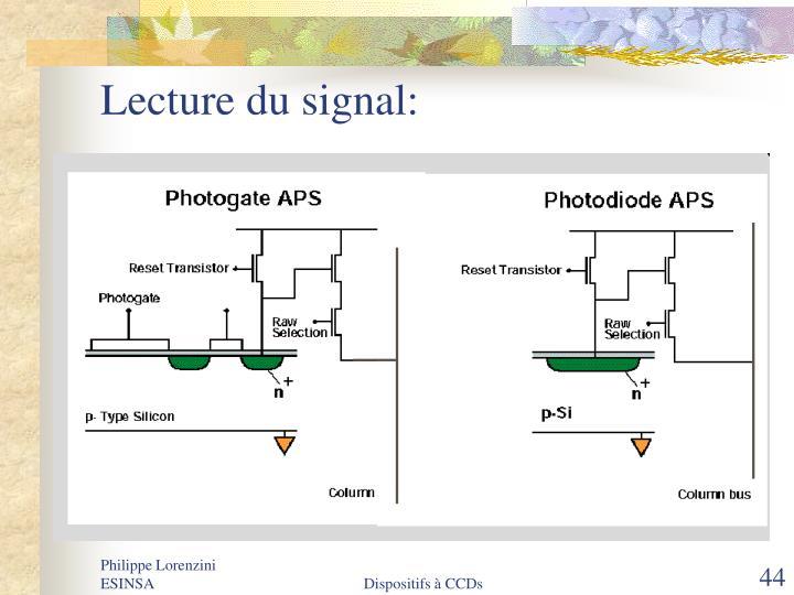 Lecture du signal: