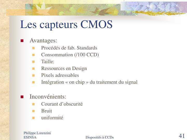 Les capteurs CMOS