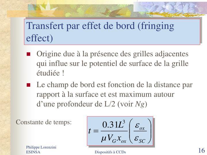 Transfert par effet de bord (fringing effect)