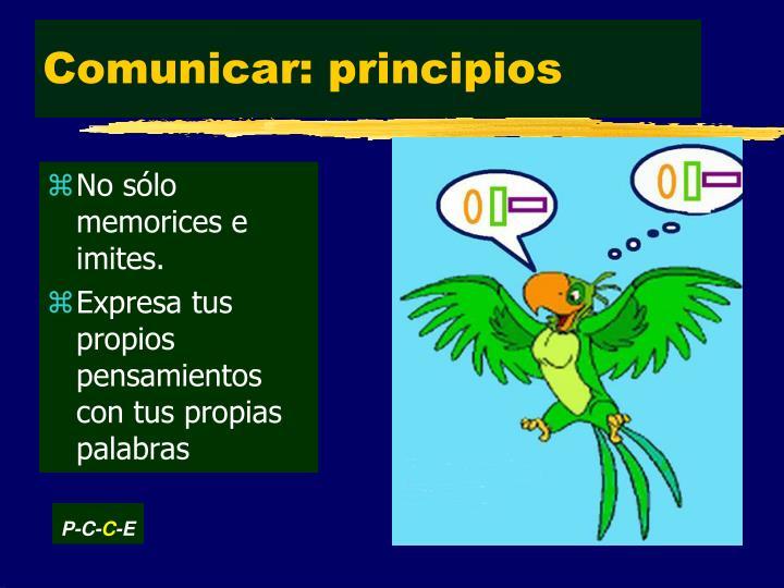 Comunicar: principios