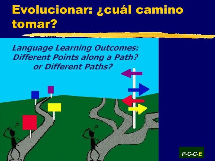 Evolucionar: ¿cuál camino tomar?