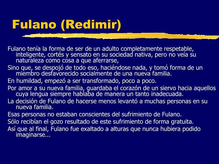 Fulano (Redimir)