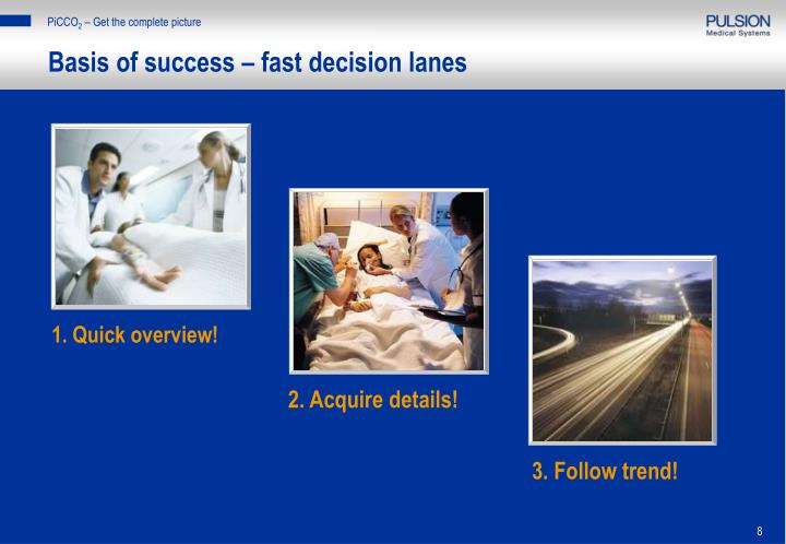 Basis of success – fast decision lanes