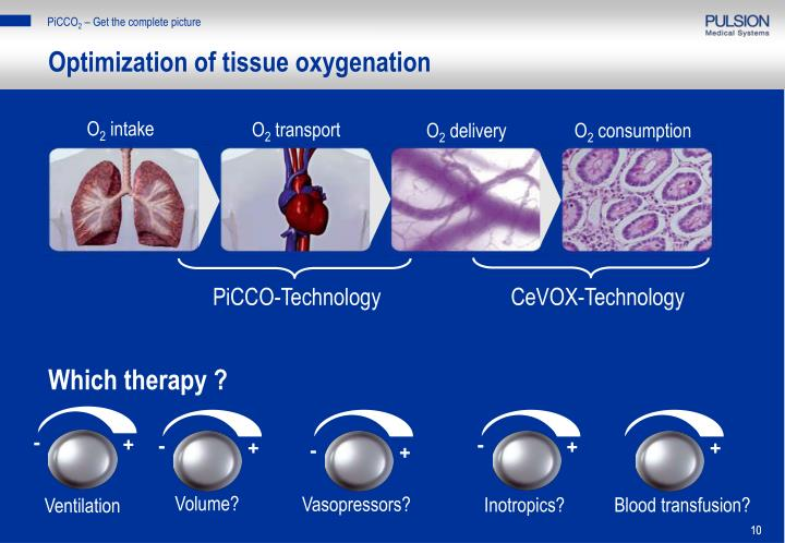 Optimization of tissue oxygenation