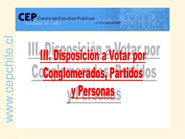 III. Disposición a Votar por