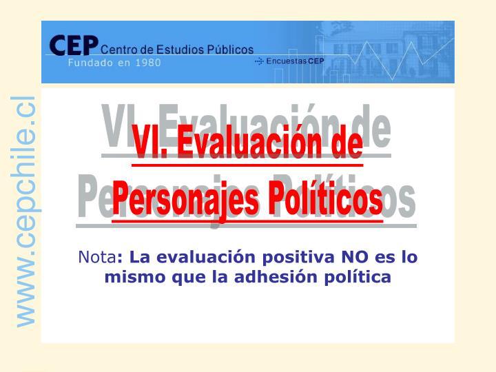 VI. Evaluación de