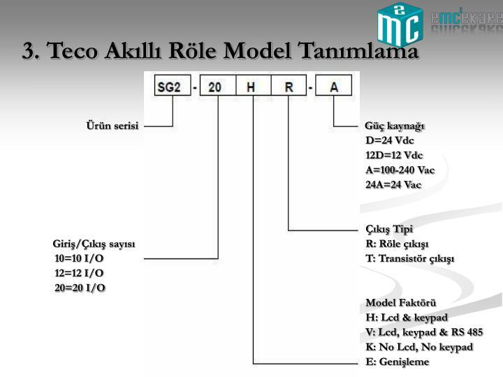 3. Teco Akıllı Röle Model Tanımlama