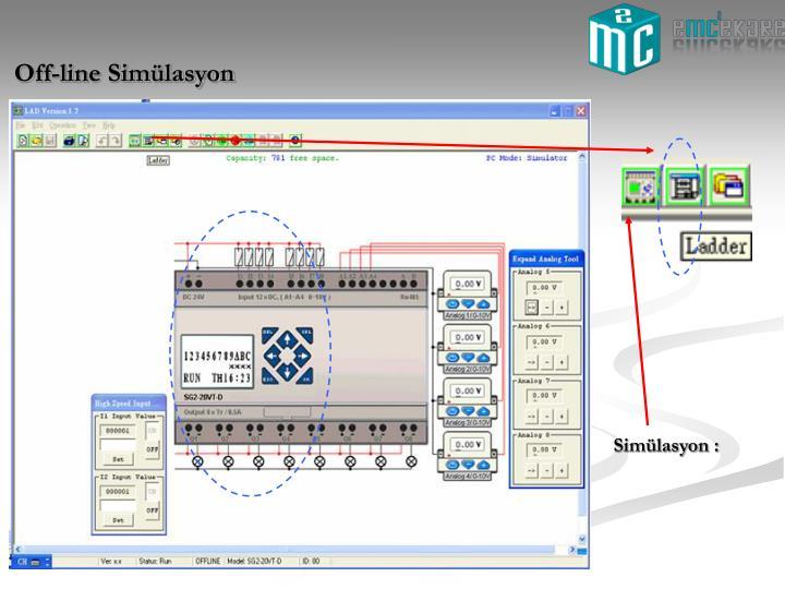 Off-line Simülasyon