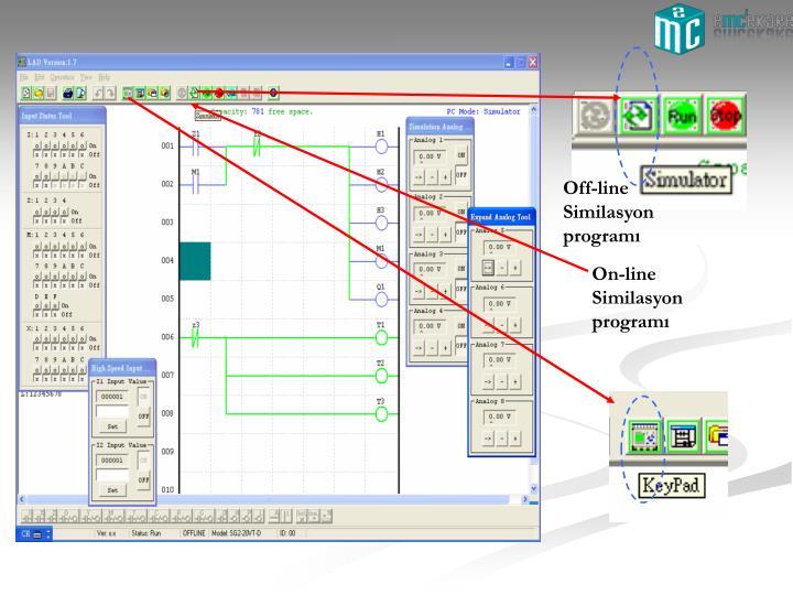 Off-line Similasyon programı