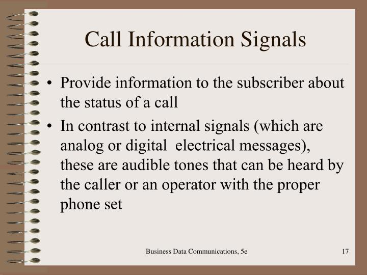 Call Information Signals