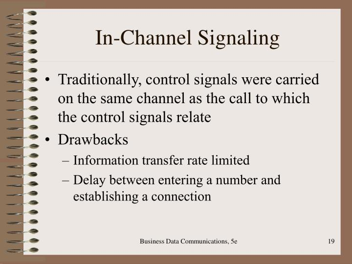 In-Channel Signaling