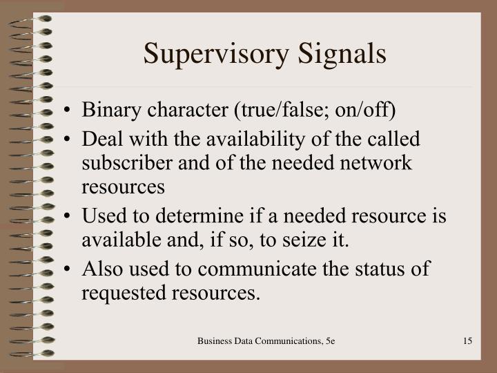 Supervisory Signals