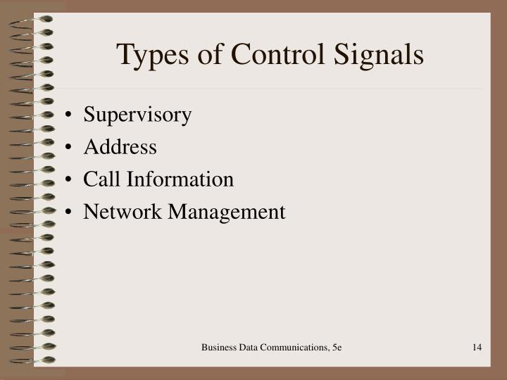 Types of Control Signals