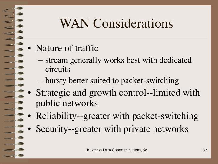 WAN Considerations