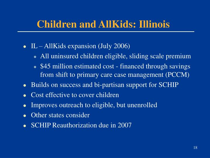 Children and AllKids: Illinois