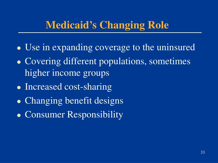 Medicaid's Changing Role