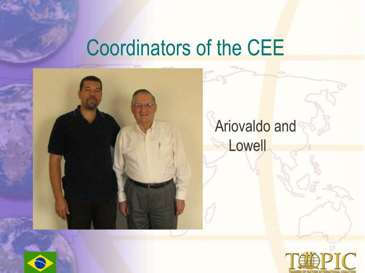 Coordinators of the CEE