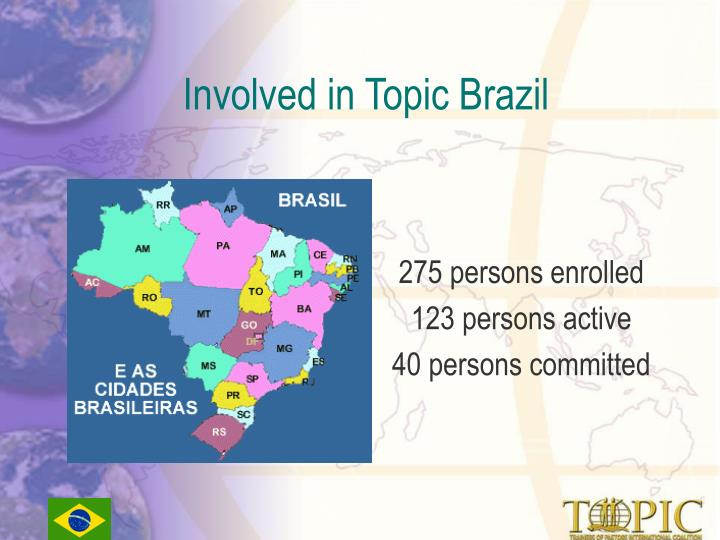 Involved in Topic Brazil