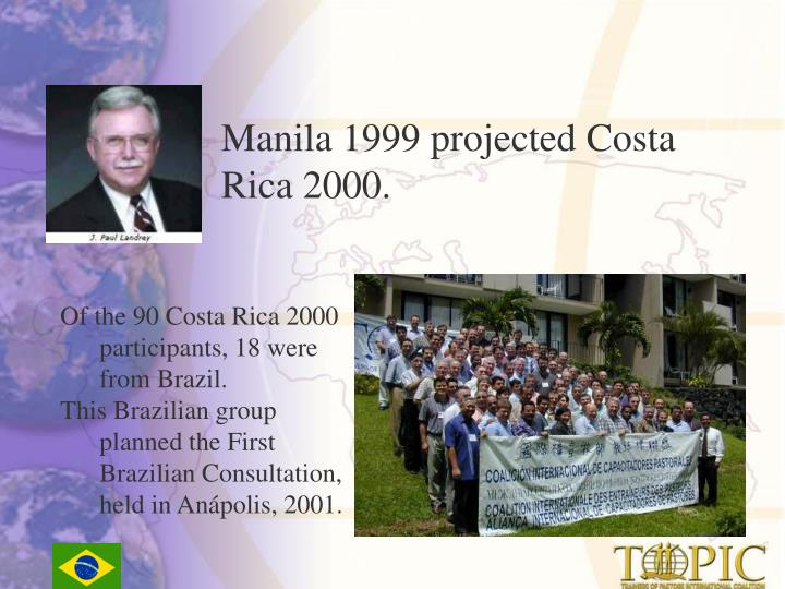Manila 1999 projected Costa Rica 2000.