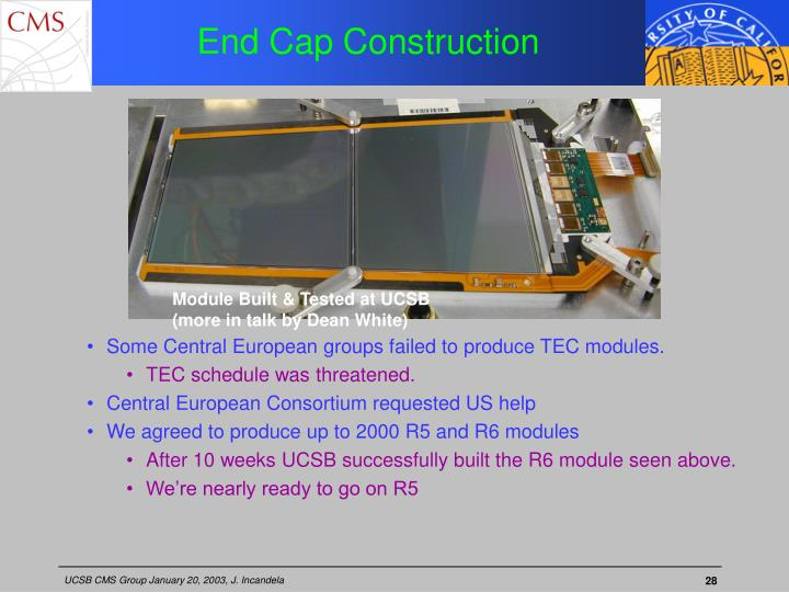End Cap Construction