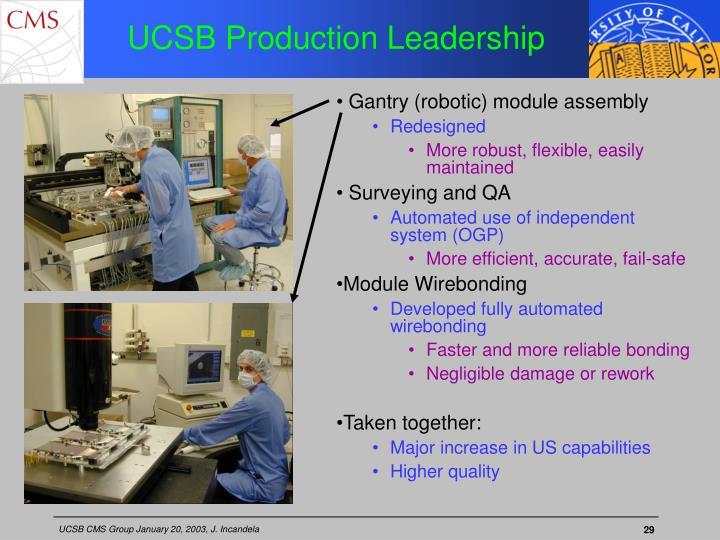 UCSB Production Leadership