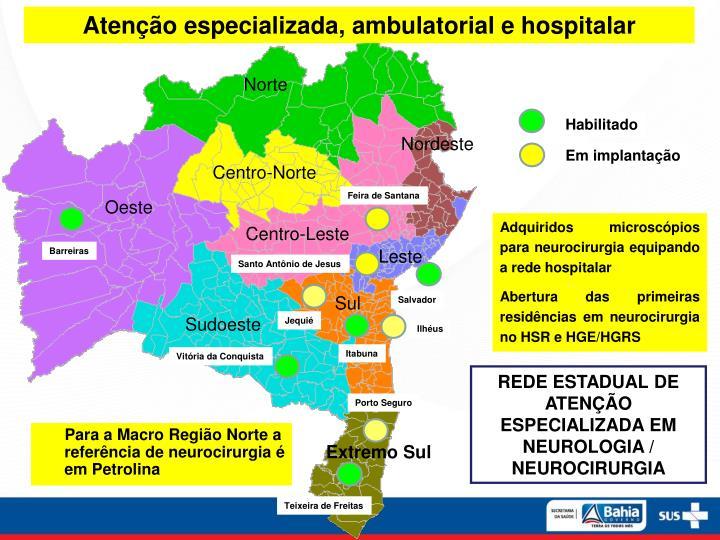 Atenção especializada, ambulatorial e hospitalar